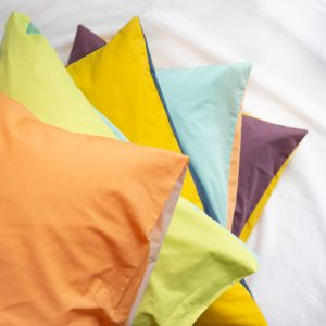 DUOCOLOR Blanclair Taies Oreillers percale coton Carroussel