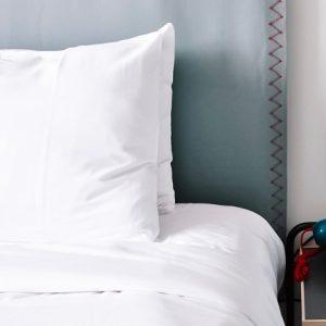 Blanclair parure de lit blanc polycoton 2 personnes